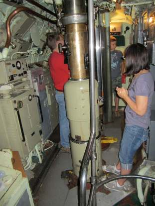 Inside the conn tower, USS Requin