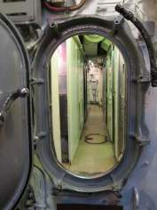 Looking aft, from forward torpedo room, USS Requin