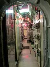 Empty hallway, USS Requin behind-the-scenes tour, Carnegie Science Center.