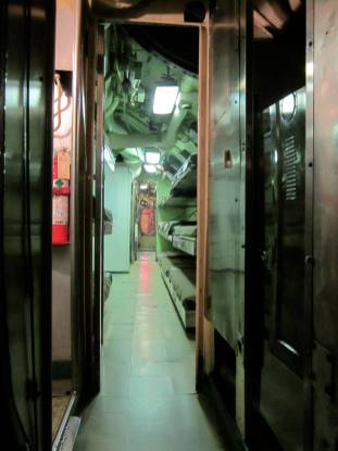 Corridor detail, USS Requin behind-the-scenes tour, Carnegie Science Center.