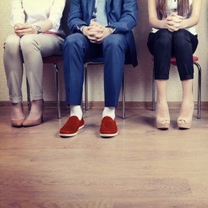 Nervous job candidates.