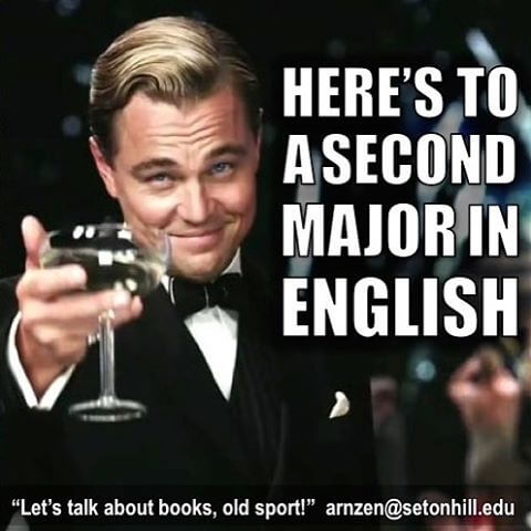Let's talk about books, old sport.