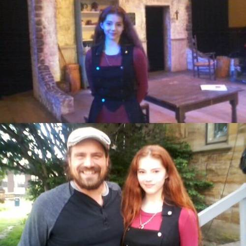 The girl enjoyed seeing Alex Noble and the rest of the cast of Sive. (Last shows, 2 & 8 today.)