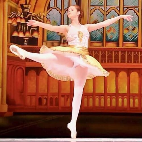The girl will be dancing as the Gold Fairy in Laurel Ballet's Sleeping Beauty tonight at 7.