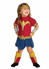 Catalog picture of a little girl wearing a Wonder Woman costume.