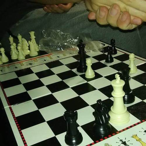 The boy wins once again.  #chess