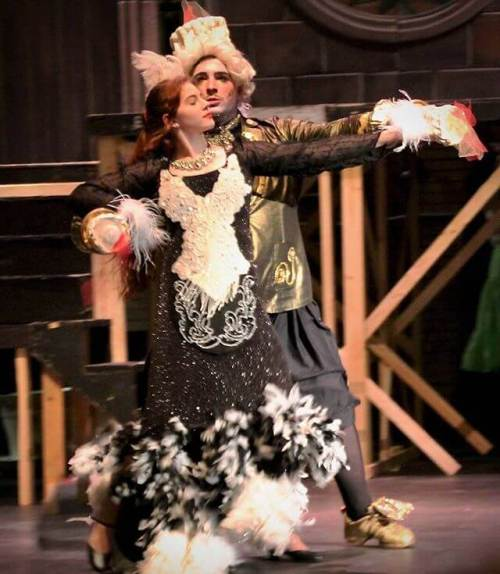 The girl rehearsing as Babette in Stage Right's Beauty and the Beast (her show is 7:30 tonight).