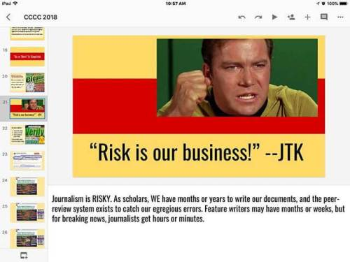 My buddy JTK helps me make a key point in my slideshow. #4c18 #b29