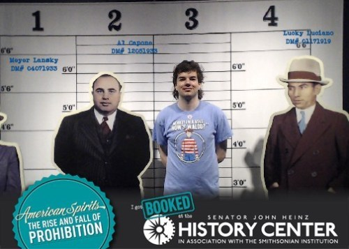 The boy is visiting the Prohibition exhibit @HistoryCenter while I continue at NeMLA.