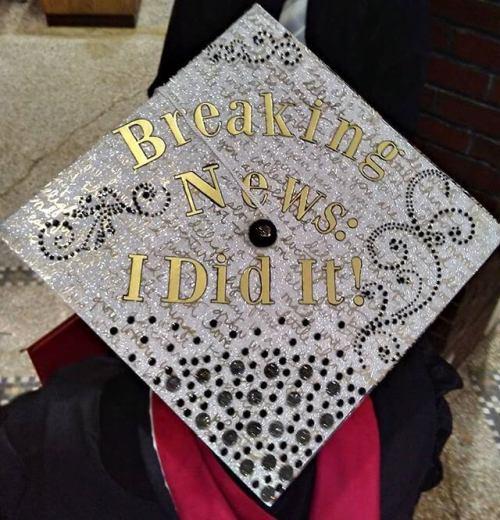 My outward-bound editor's graduation cap.