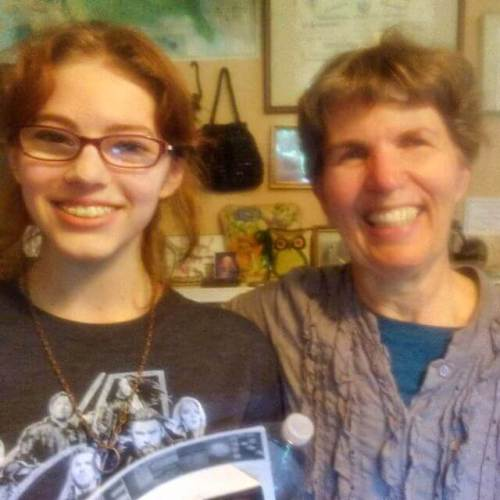 Finished the girl's 10th grade homeschool evaluation with PA Homeschoolers Susan Richman.