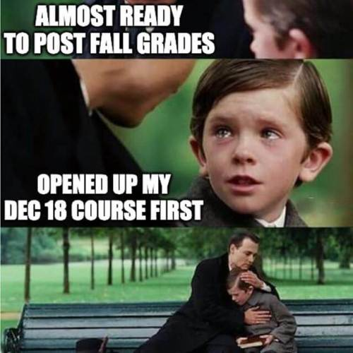 When your January term starts Dec 18. #partylikeaprof