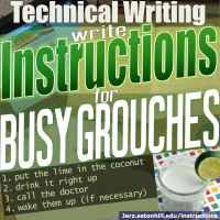 Instructions: How to Write Guides for Busy Grouches