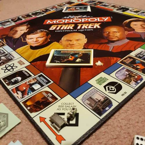 Friday night board game therapy. #startrek #monopoly