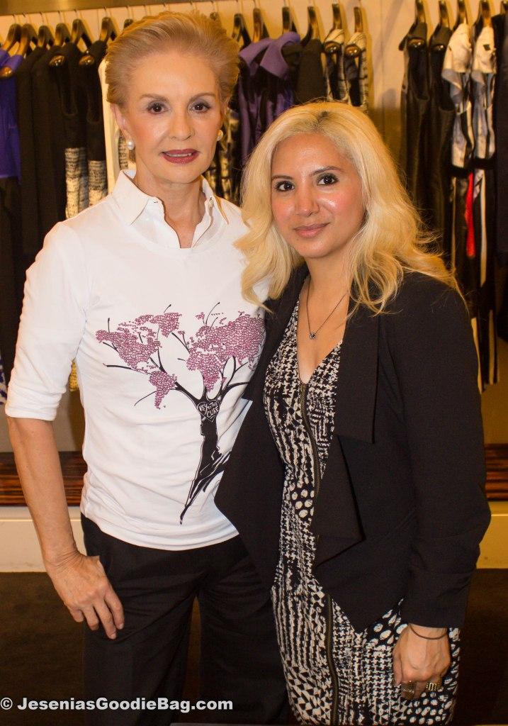 Carolina Herrera with Jesenia (JGB Editor)