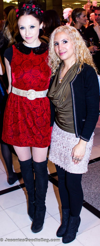 Stacey Bendet (Designer) with Jesenia (JGB Editor)