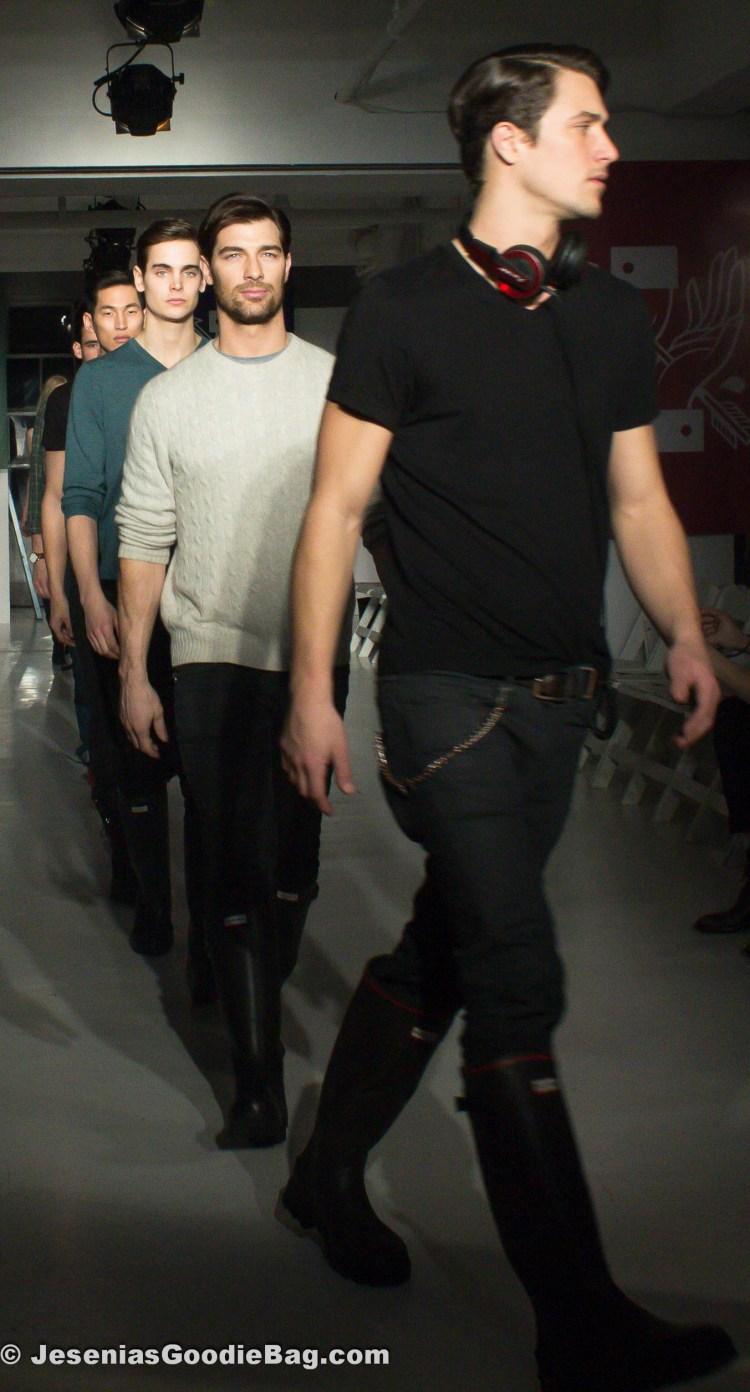 Models rehearsing pre-fashion show