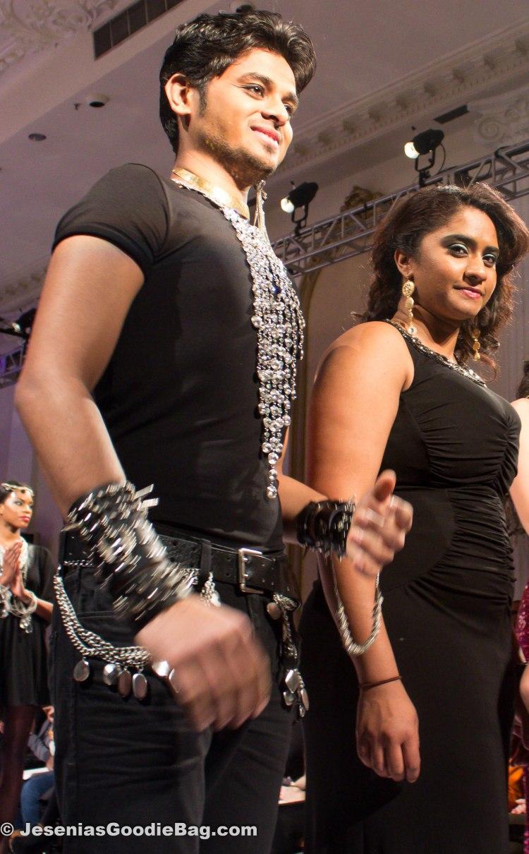 Pearl Naidoo (Designer) with models