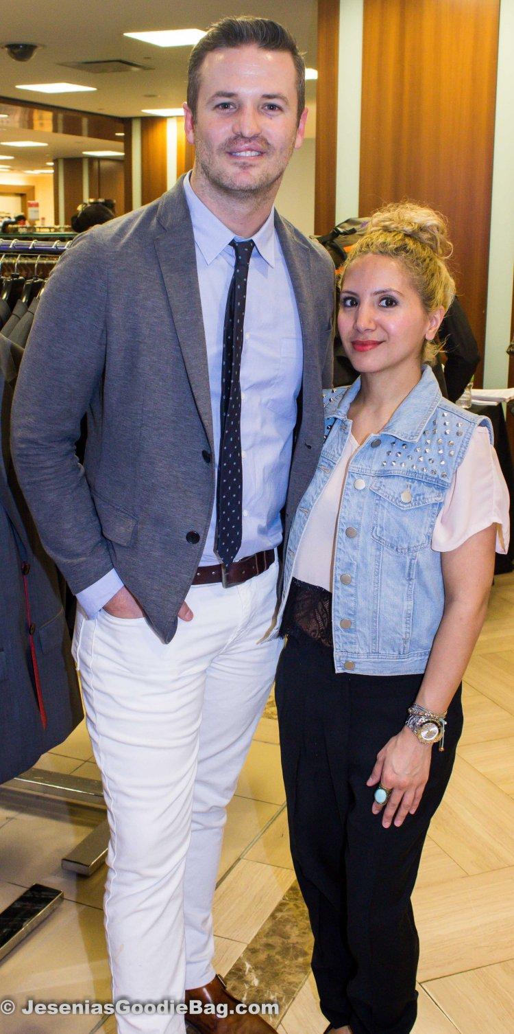 Colin Starks (Details Magazine) with Jesenia (JGB Editor)