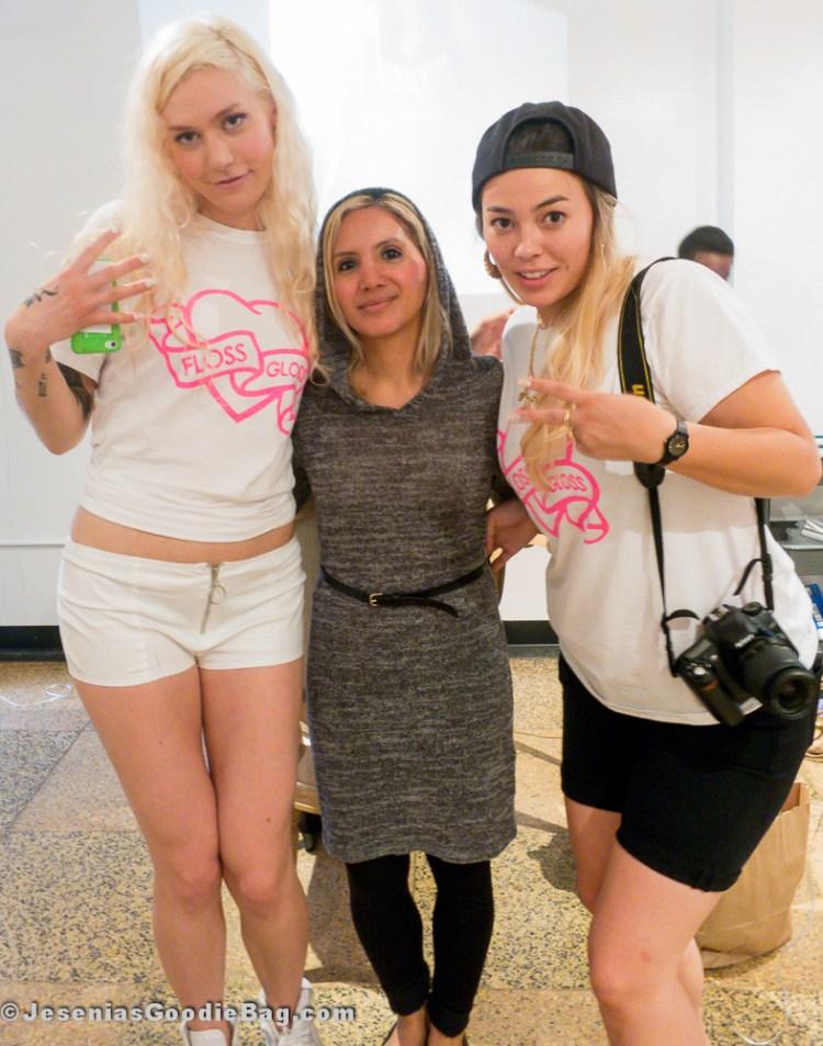 Aretha Sack (Floss Gloss), Jesenia (JGB Editor) and Janine Lee (Floss Gloss)