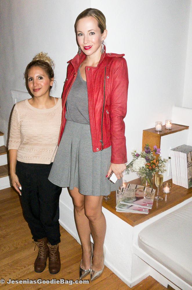 Jesenia (JGB Editor) with Helena Glazer (Brooklyn Blonde)
