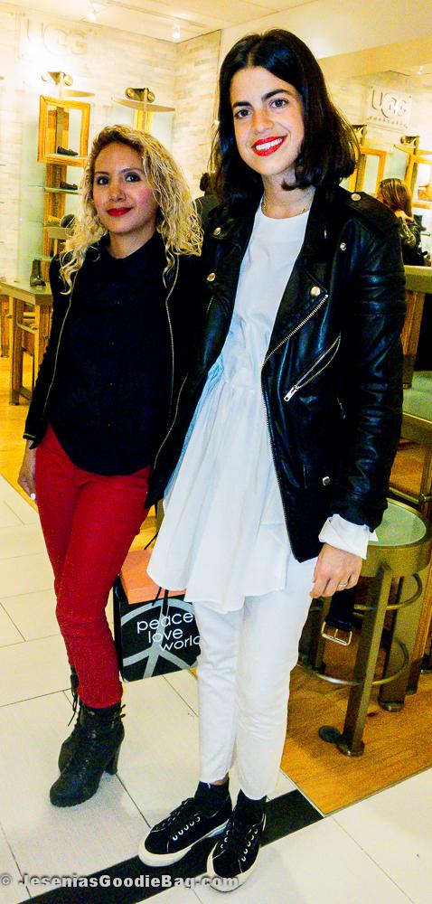 Leandra Medine (Man Repeller) with Jesenia (JGB Editor)