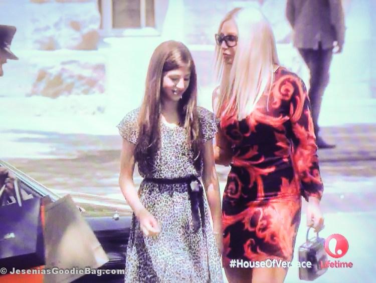 Madison McAleer (Allegra Beck Versace) with Gina Gershon (Donatella Versace)