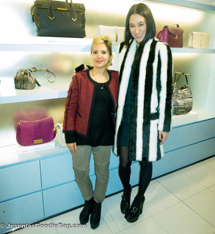 Jesenia (JGB Editor) with Eva Chen (Lucky Magazine)