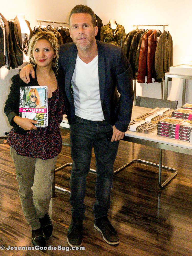Jesenia (JGB Editor) with Scott Lipps (One Management)