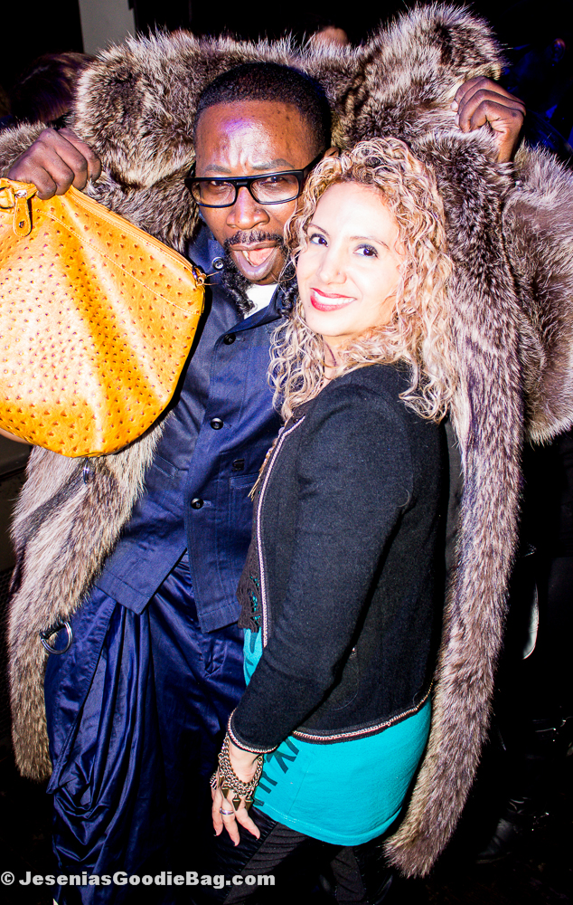 Designer Bill Witherspoon with Jesenia (JGB Editor)