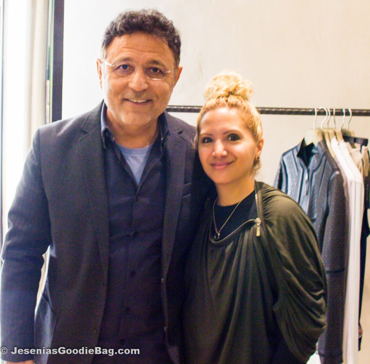 Elie Tahari with Jesenia (JGB Editor)