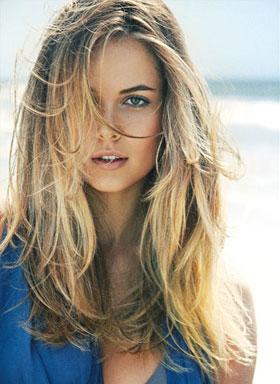Model wearing Surf Spray