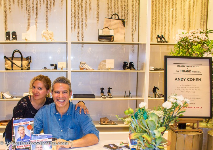 Andy Cohen with Jesenia (JGB Editor)