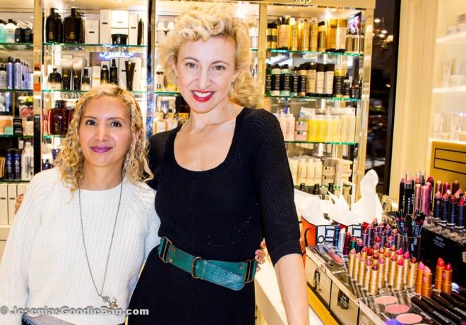 Jesenia (JGB Editor) with Poppy King (Lipstick Queen)