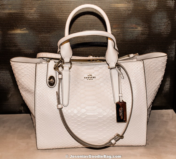 CROSBY carryall in python embossed leather