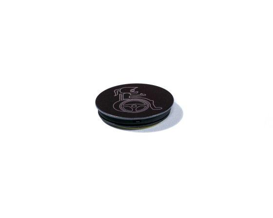 Wheel with me - Pop Socket Black