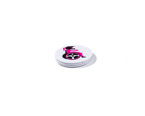 Wheel with me - Pop Socket White