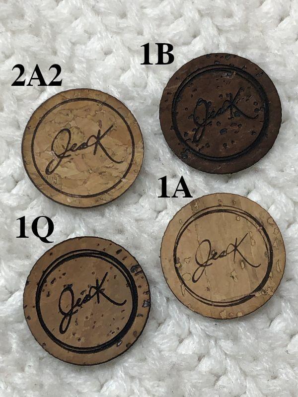 Étiquettes de liège rondes 1