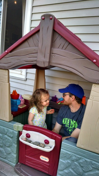 "Lucy and her Daddy in ""the house out back"""