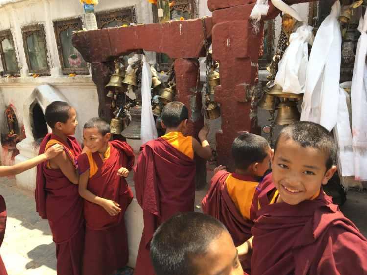 Klokkerne ved Bouddhanath Stupa