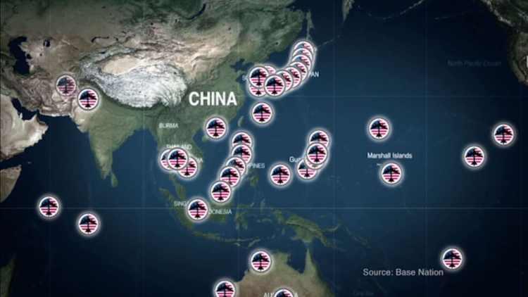 amerikanske baser om Kina