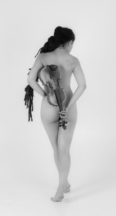 """Nude back with violin"" - Model: Valentina"