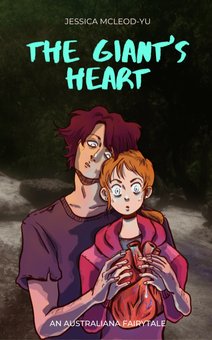 """""""The Giant's Heart book cover"""", Photoshop, 2020, Jessica McLeod-Yu"""