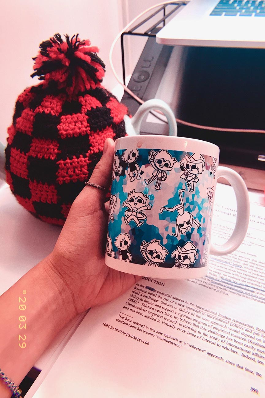 """Jess Mug"", design on mug, Jessica McLeod-Yu, 2019"