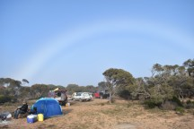 Check out the ring of light above our campsite!