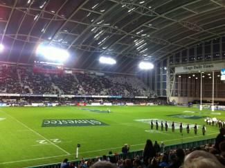 First ever live rugby game! Dunedin Highlanders
