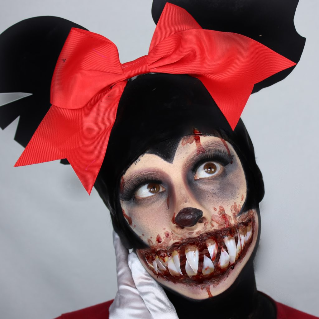 Creepy Minnie Mouse Halloween Makeup Ideas Jess Bonilla