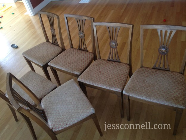 Oilcloth Covered Dining Chairs Tutorial Jess Connell