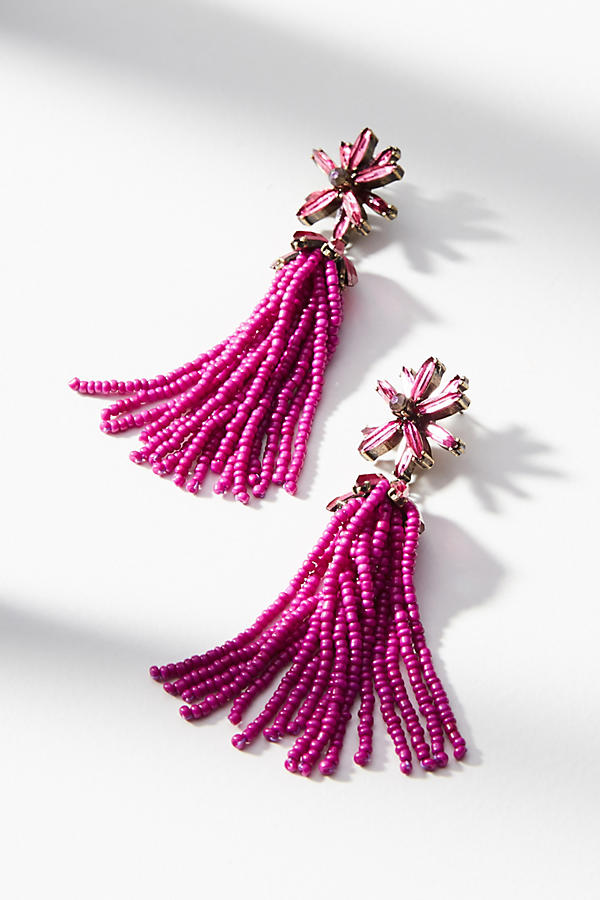 Anthropologie - Monet Tassel Drop Earrings - £48