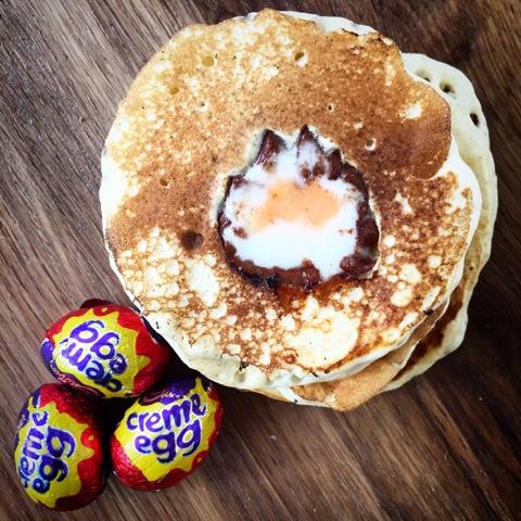 Cadbury Creme Egg Pancakes